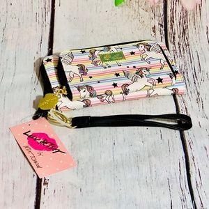 Betsey Johnson Unicorn Wallet Wristlet